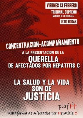 afectados por hepatitis c se querellan contra mato y alonso ante el tribunal supremo