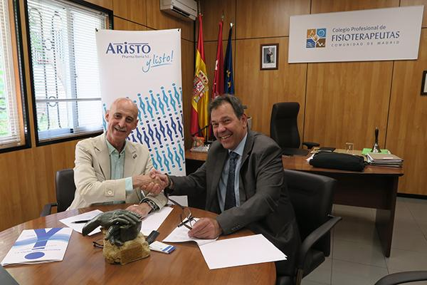 aristo pharma y el colegio de fisioterapeutas de madrid firman un acuerdo de colaboracioacuten
