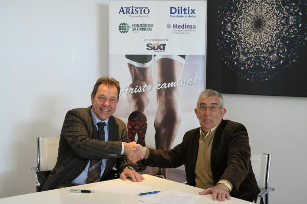 aristo pharma hace el camino de santiago para colaborar con farmaceacuteuticos sin fronteras