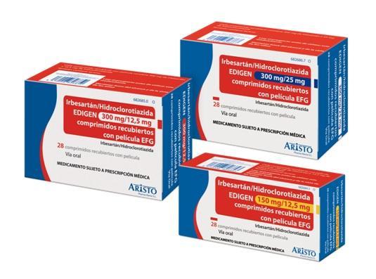 aristo pharma iberia lanza irbesartaacutenhidroclorotiazida edigen