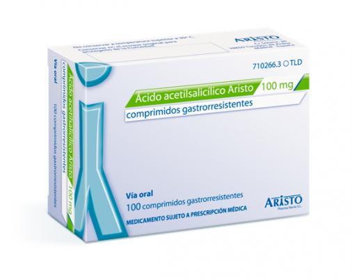 aristo pharma lanza el nuevo aacutecido acetilsaliacutecilico 100 mg de 100 comprimidos gastrorresistentes