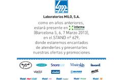 laboratorios  milo presente en infarma 2013