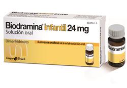 nueva biodramina infantil unidosis