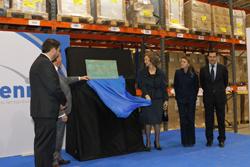 la reina inaugura la ampliacian en guadalajara de la plataforma logastica farmavenix