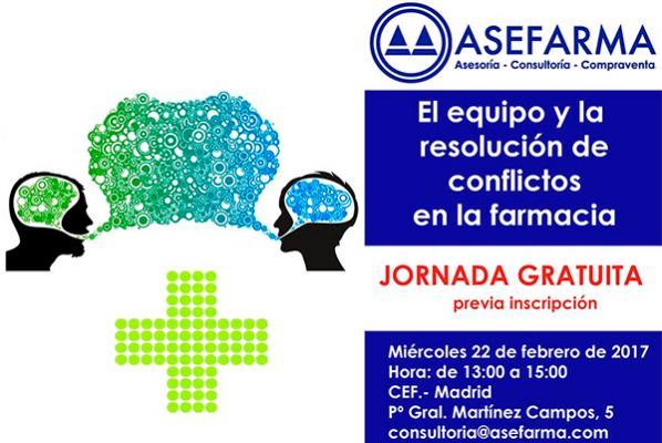 asefarma organiza una jornada sobre la gestioacuten del equipo y la resolucioacuten de conflictos en la farmacia