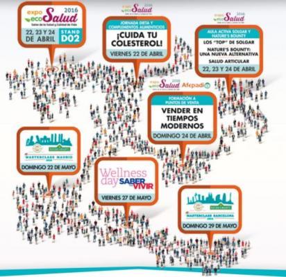 el calendario de eventos de solgar empieza en expo eco salud 2016