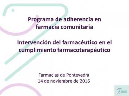 el cofpo disentildea un programa para mejorar el cumplimiento farmacoterapeacuteutico de los pacientes