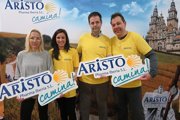 aristo pharma concluye su camino de santiago solidario con un proyecto de farmaceacuteuticos sin fronteras nbsp