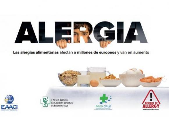 las farmacias aragonesas se suman a la campaa europea sobre anafilaxia y alergias alimentarias