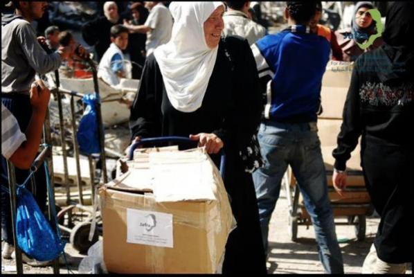 farmamundi suministra alimentos y leche infantil a refugiados en al yarmouk