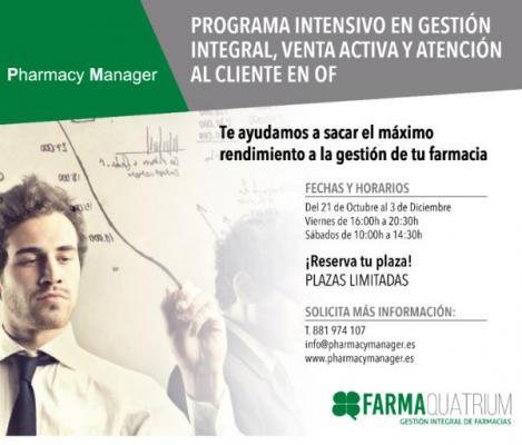farmaquatrium celebra el curso pharmacy manager para tratar las claves en la gestioacuten integral de la oficina de farmacia