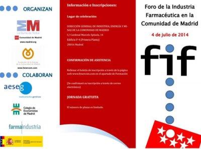 foro de la industria farmacutica en la comunidad de madrid