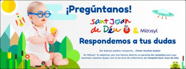 el san joan de deacuteu y mitosyl solucionan las dudas del autocuidado de los bebeacutes con su nueva web de consultas