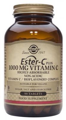 llega el complemento alimenticio ester c plus 1000 mg de solgar
