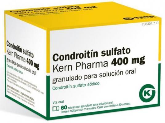 llega el primer y uacutenico condroitiacuten sulfato 400mg granulado para solucioacuten oral