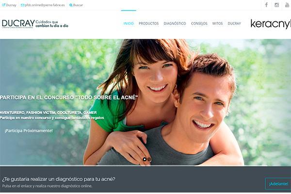 losnbsplaboratorios dermatoloacutegicosnbspducray crean un portal online para adolescentes con acneacute