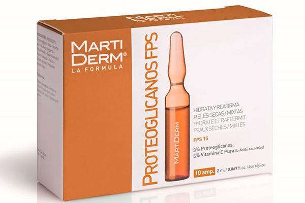 con la llegada de los primeros rayos de sol martiderm propone las ampollas de proteoglicanos vitamina c con proteccioacuten uv fps15