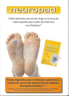 neuropad facilita la deteccion precoz del pie de riesgo de ulceracion en pacientes diabeticos