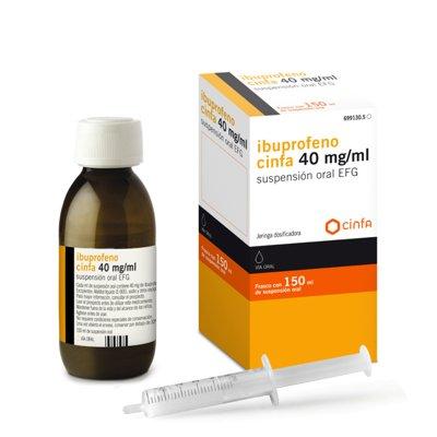 nueva dosis del ibuprofeno de cinfa en  suspension oral