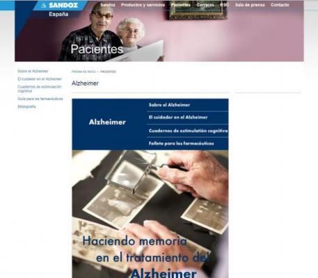 sandoz estrena seccion web especializada en la enfermedad de alzheimer