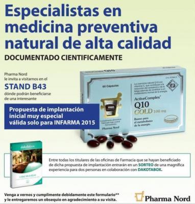 pharma nord invita a visitar su stand b43 en infarma 2015