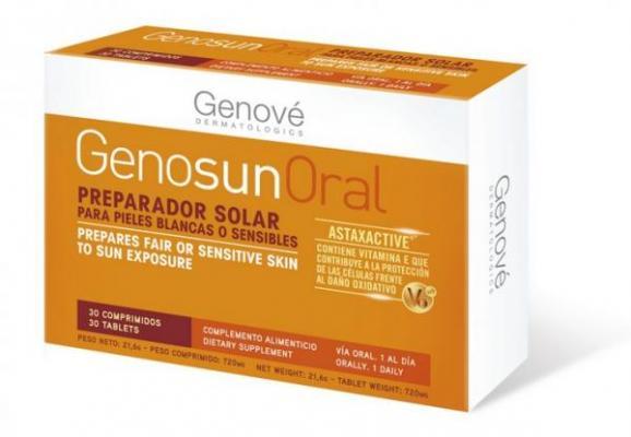 piel protegida desde el interior con genosun oral