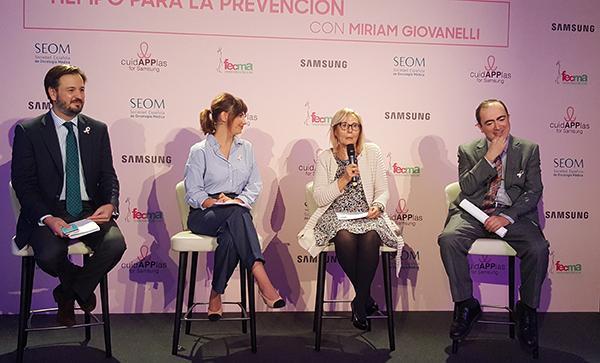 samsung colabora con fecma en el desarrollo de cuidapplas para fomentar la deteccioacuten precoz del caacutencer de mama