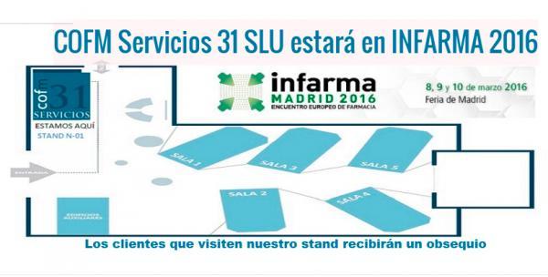 la sociedad del cofm servicios 31 slu presente en infarma2016