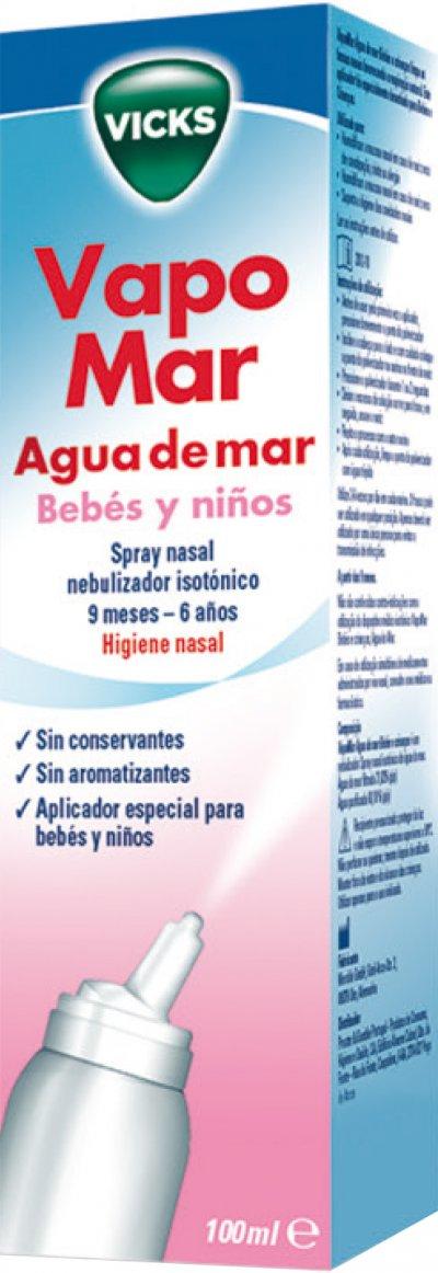 vapomar agua de mar nueva gama para la congestin nasal